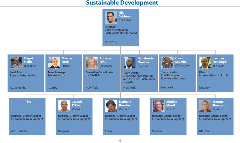 Leader Development Planning and Inclusive Sustainable Growth Team Leader Livelihoods and Economic Recovery Montreal Protocol Unit Addis Ababa
