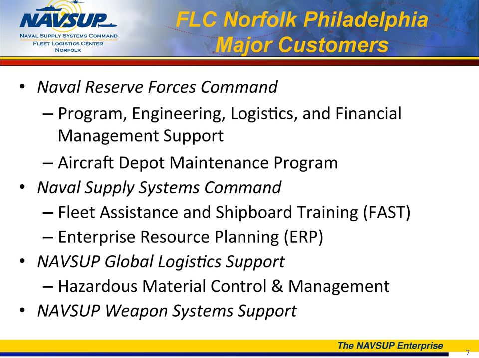 Systems Command Fleet Assistance and Shipboard Training (FAST) Enterprise Resource Planning