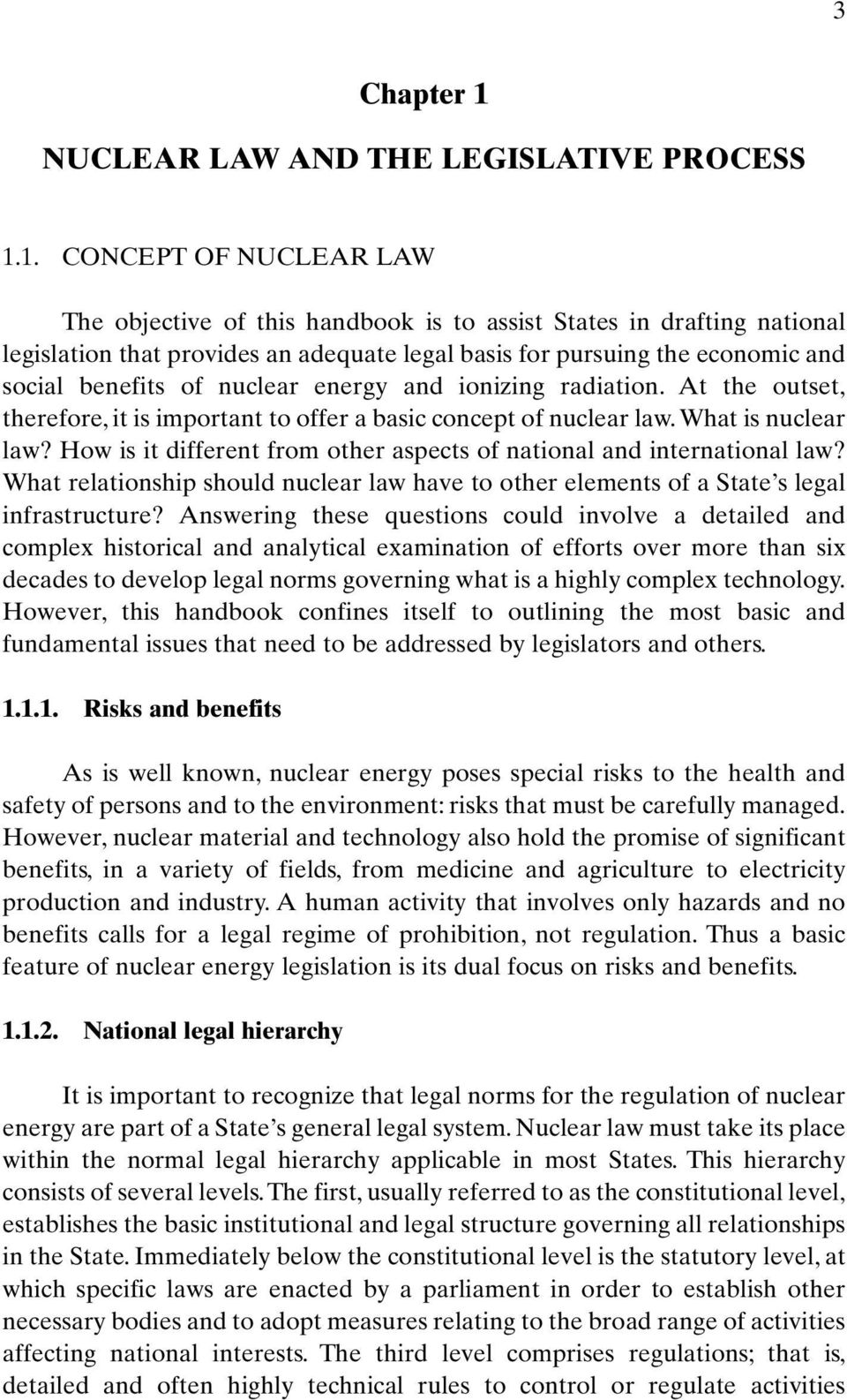 NUCLEAR LAW AND THE LEGISLATIVE PROCESS 1.