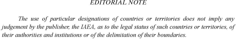 as to the legal status of such countries or territories, of their