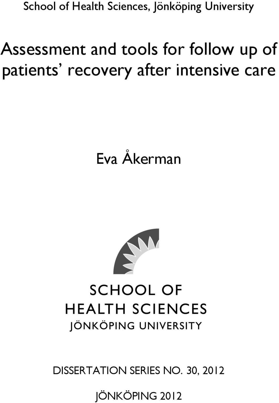 of patients recovery after intensive care Eva