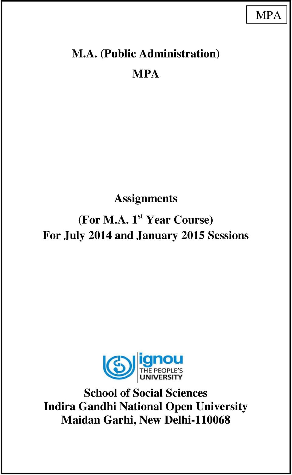 MCA  nd Semester Assignments July      Jan      by IGNOU MCA   issuu