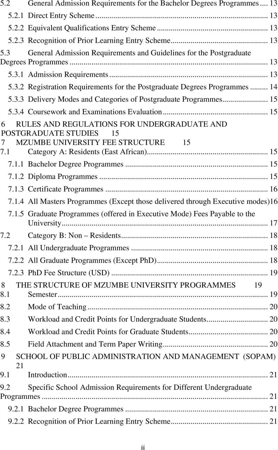 mzumbe university research proposal
