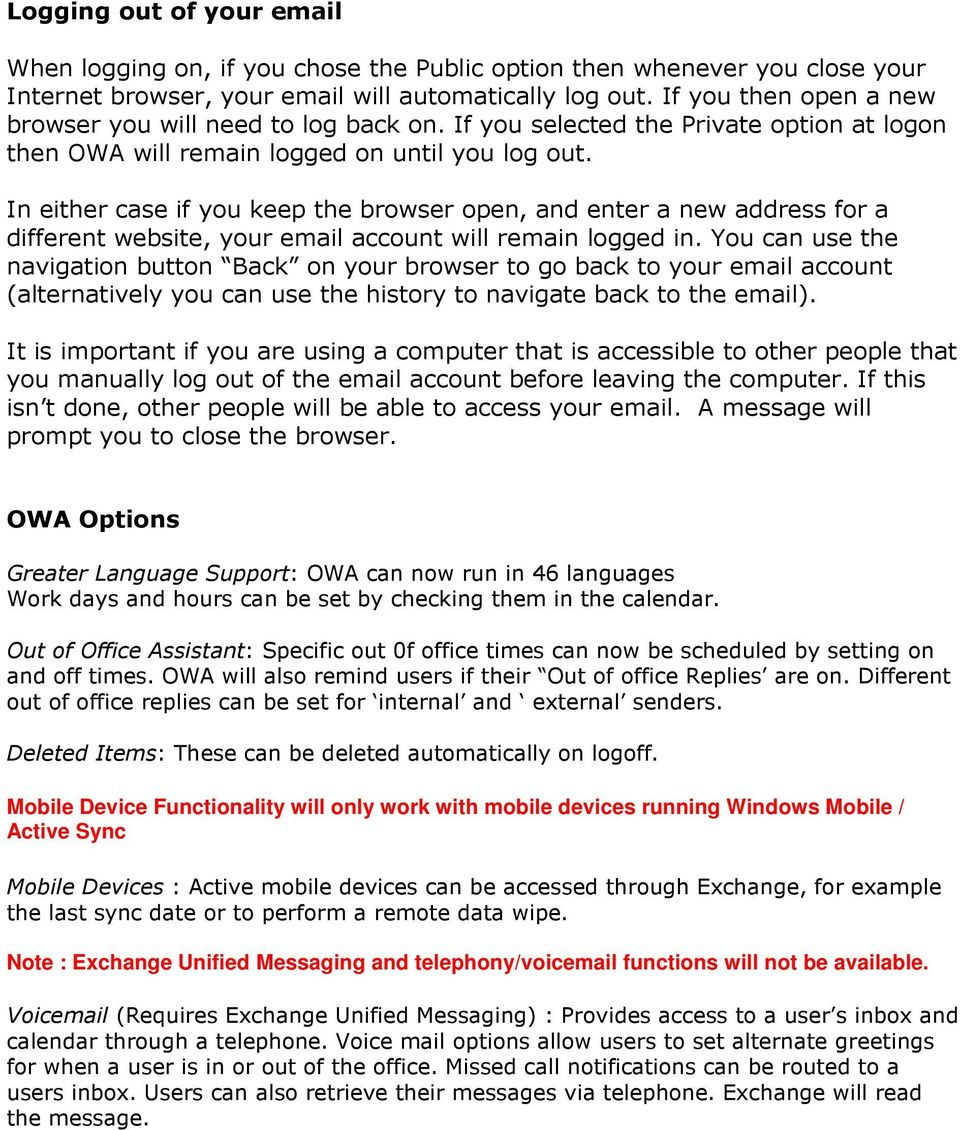 how to call back email in outlook web access
