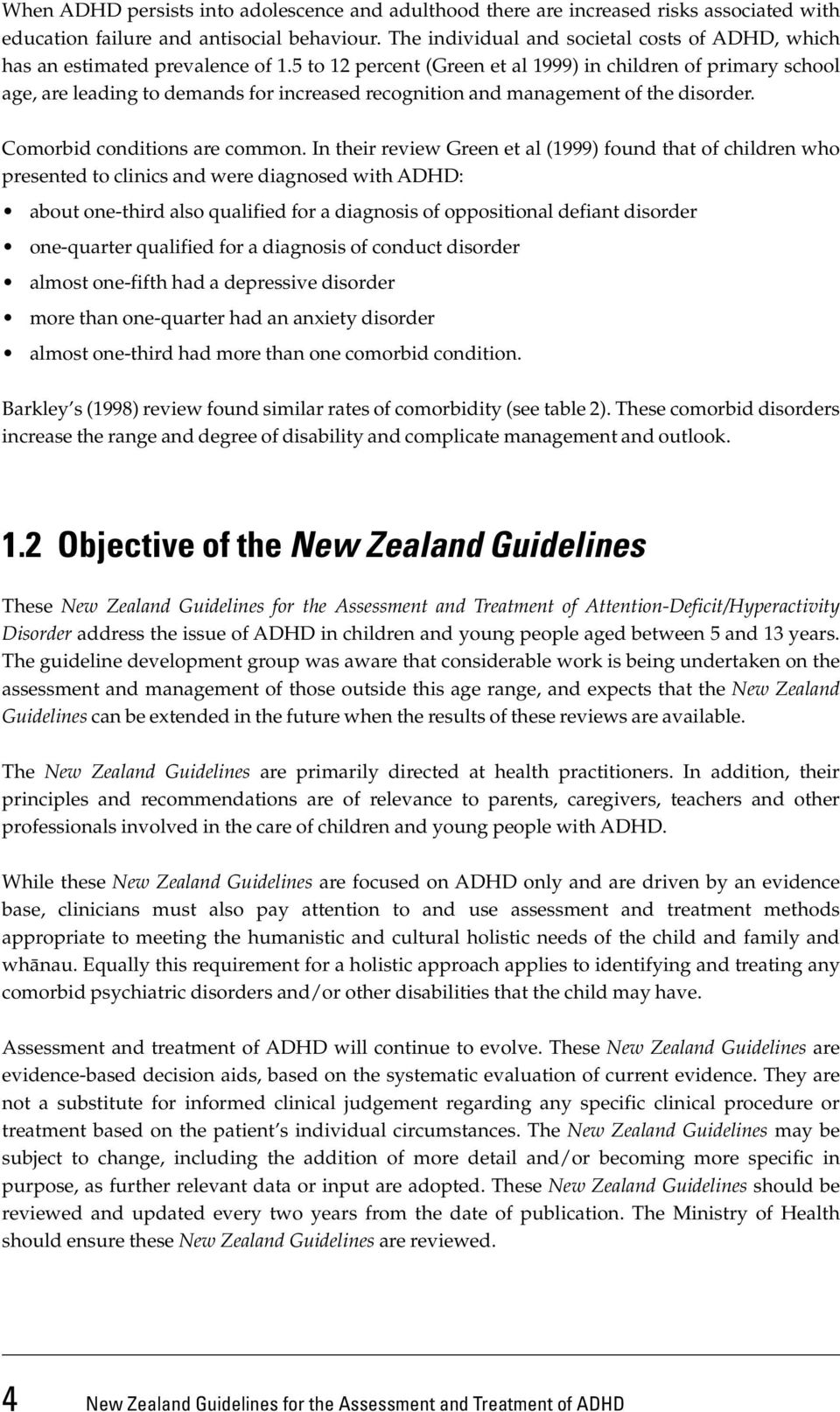 Adhd Evaluations Driven Mainly By >> New Zealand Guidelines For The Assessment And Treatment Of Attention