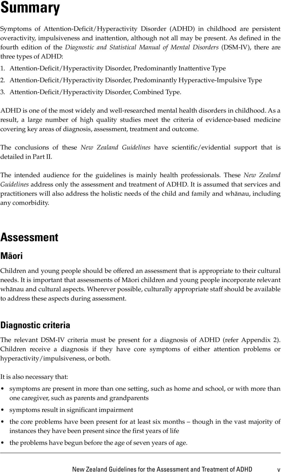 Not All Attention Problems Are Adhd >> New Zealand Guidelines For The Assessment And Treatment Of Attention