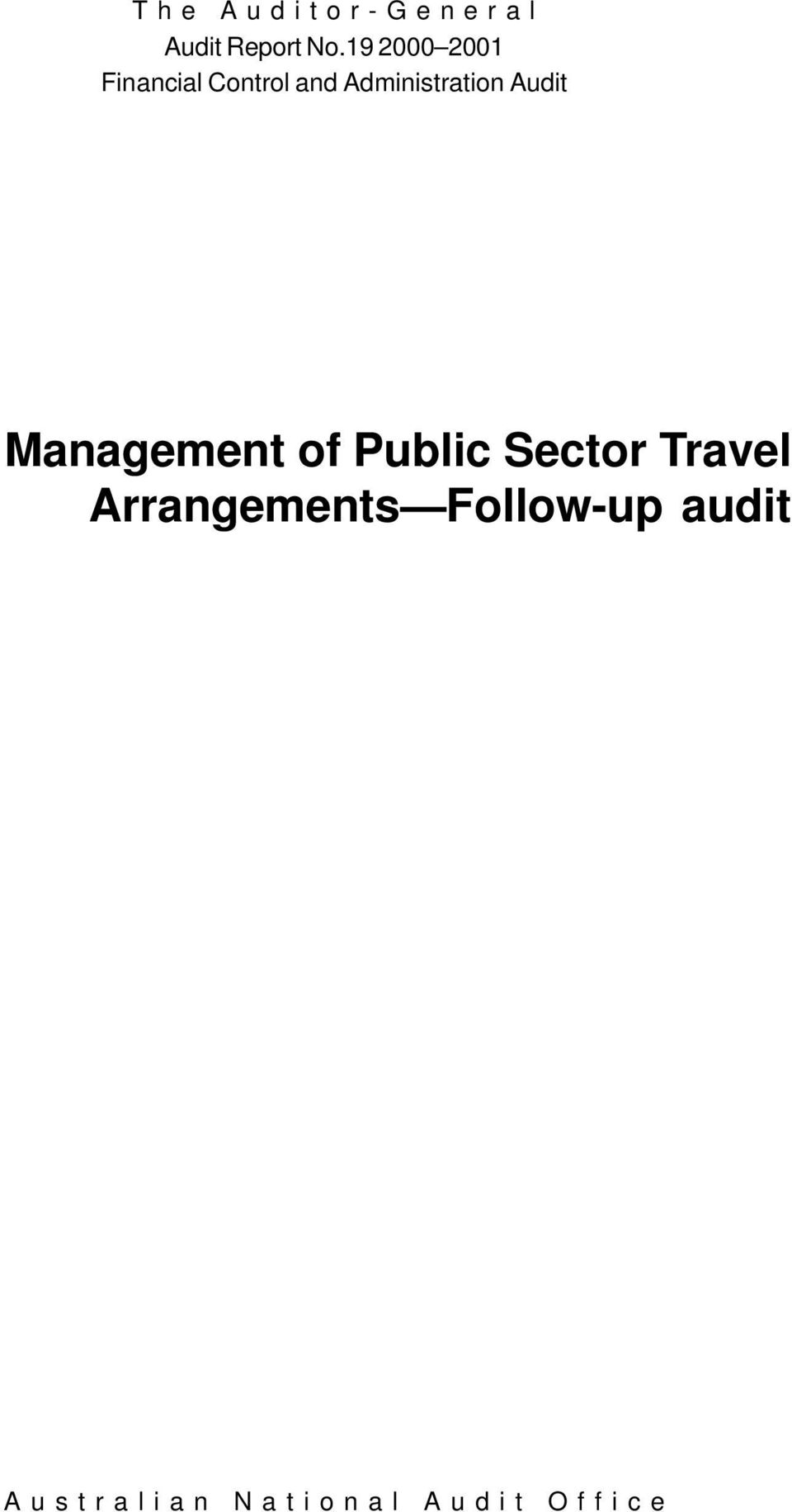 Administration Audit Management of Public