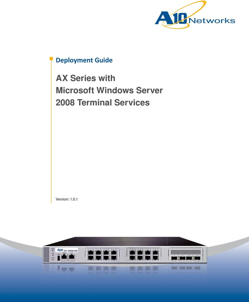 Deployment guide ax series with microsoft windows server