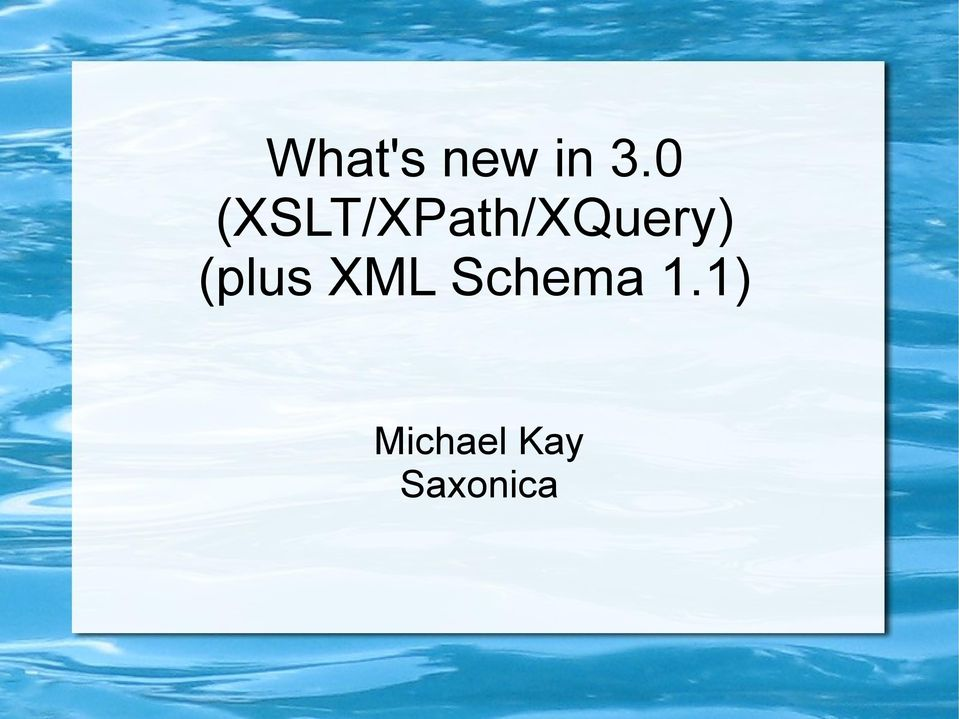 (XSLT/XPath/XQuery)