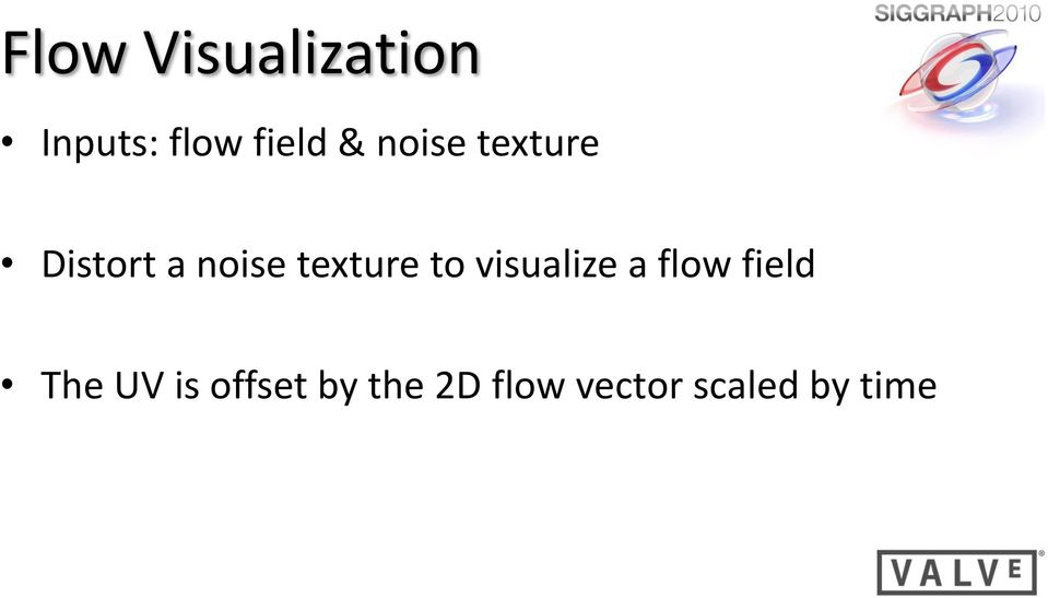 to visualize a flow field The UV is