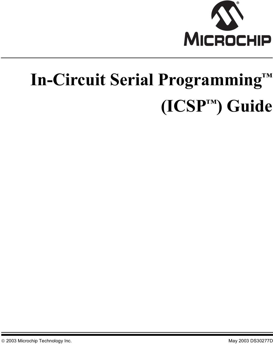 Guide 2003 Microchip