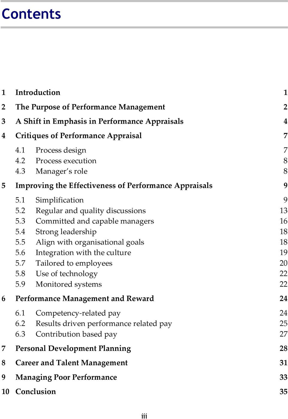 Thesis on performance related pay