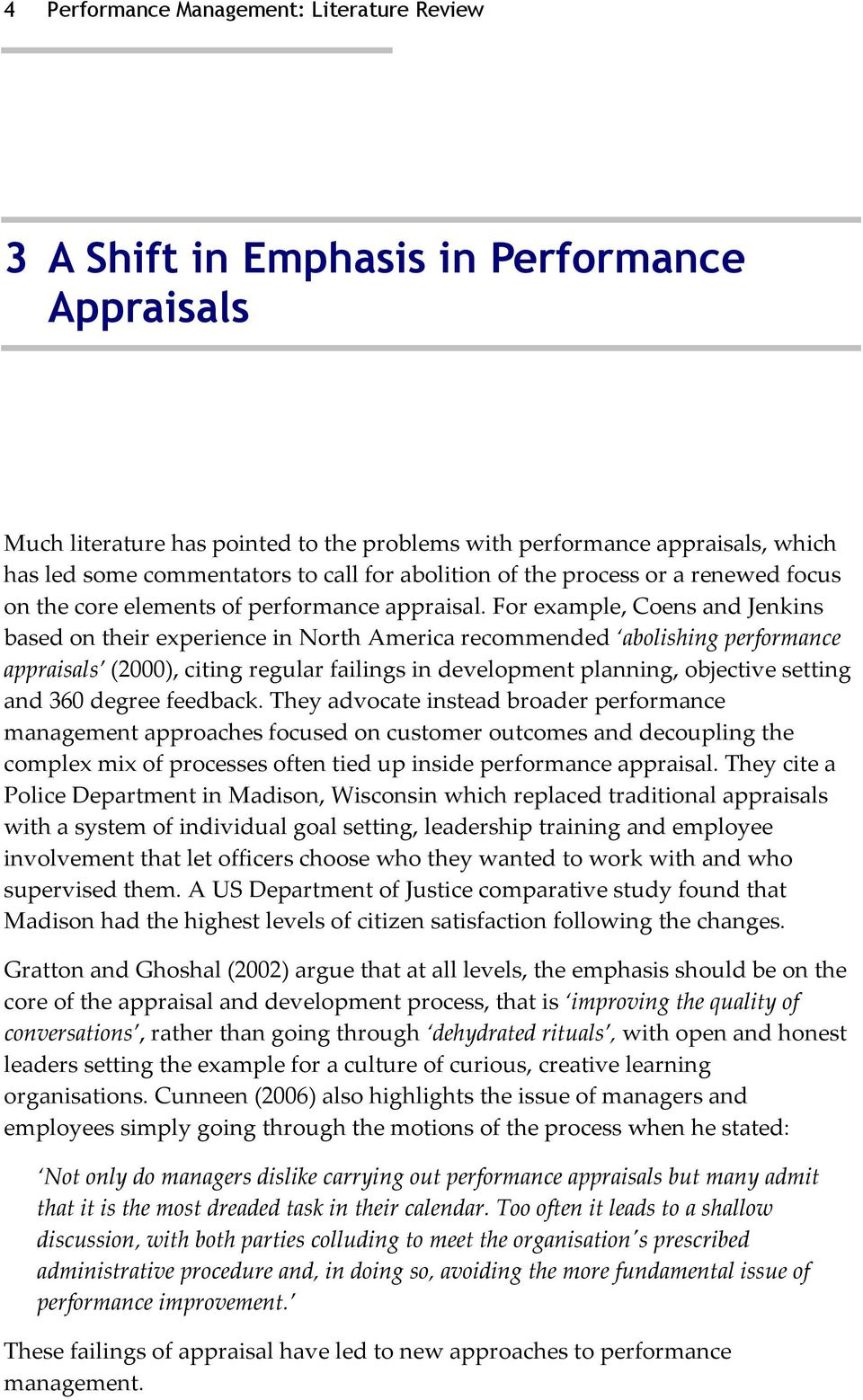 review of literature on 360 degree performance appraisal Purposes of the performance appraisal process: administrative and  developmental  the ultimate objective of carrying out this literature review is to  help us  (johnson & shields, 2007), 360-degree feedback (garavan, morley, &  flynn  1997.