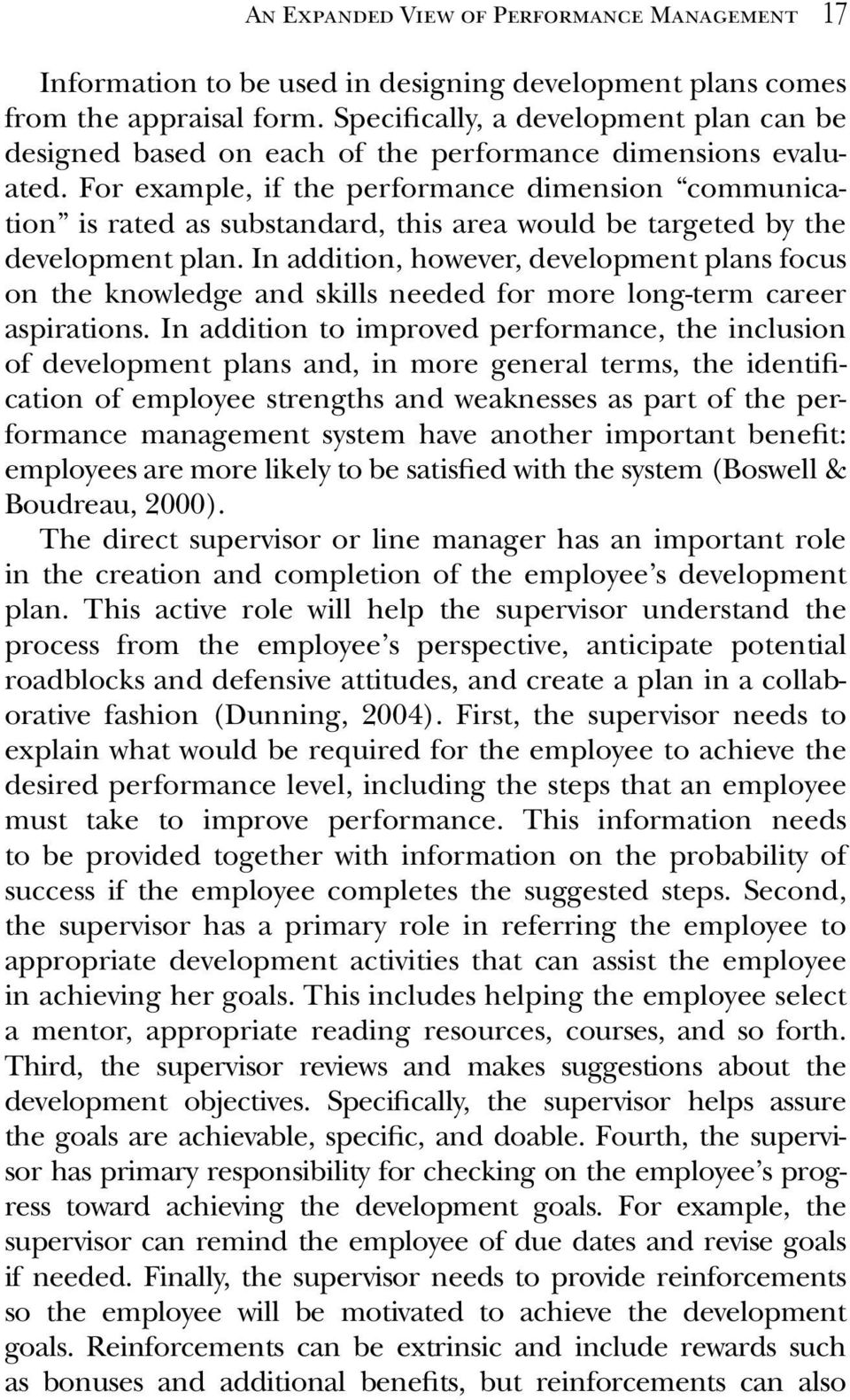 an expanded view of performance management an expanded view of for example if the performance dimension communication is rated as substandard this area would