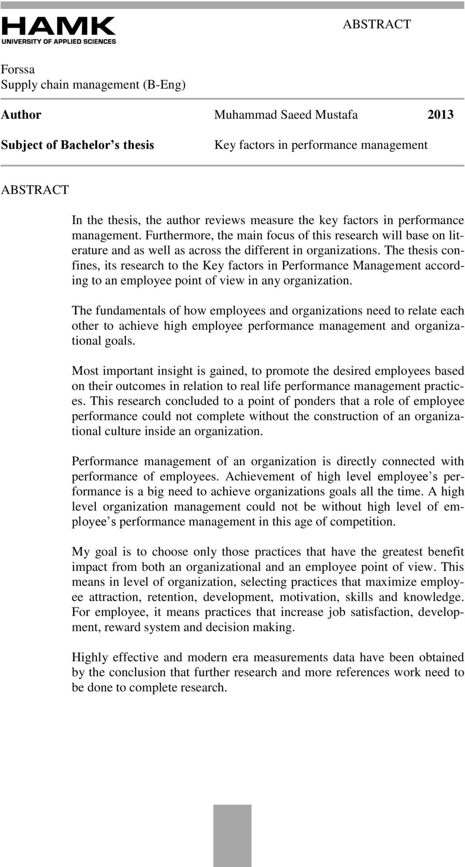 What Does The Research Say About Performance Management  Phd Thesis