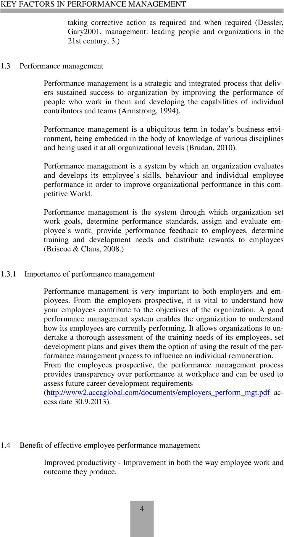 key factors in performance management pdf developing the capabilities of individual contributors and teams armstrong 1994