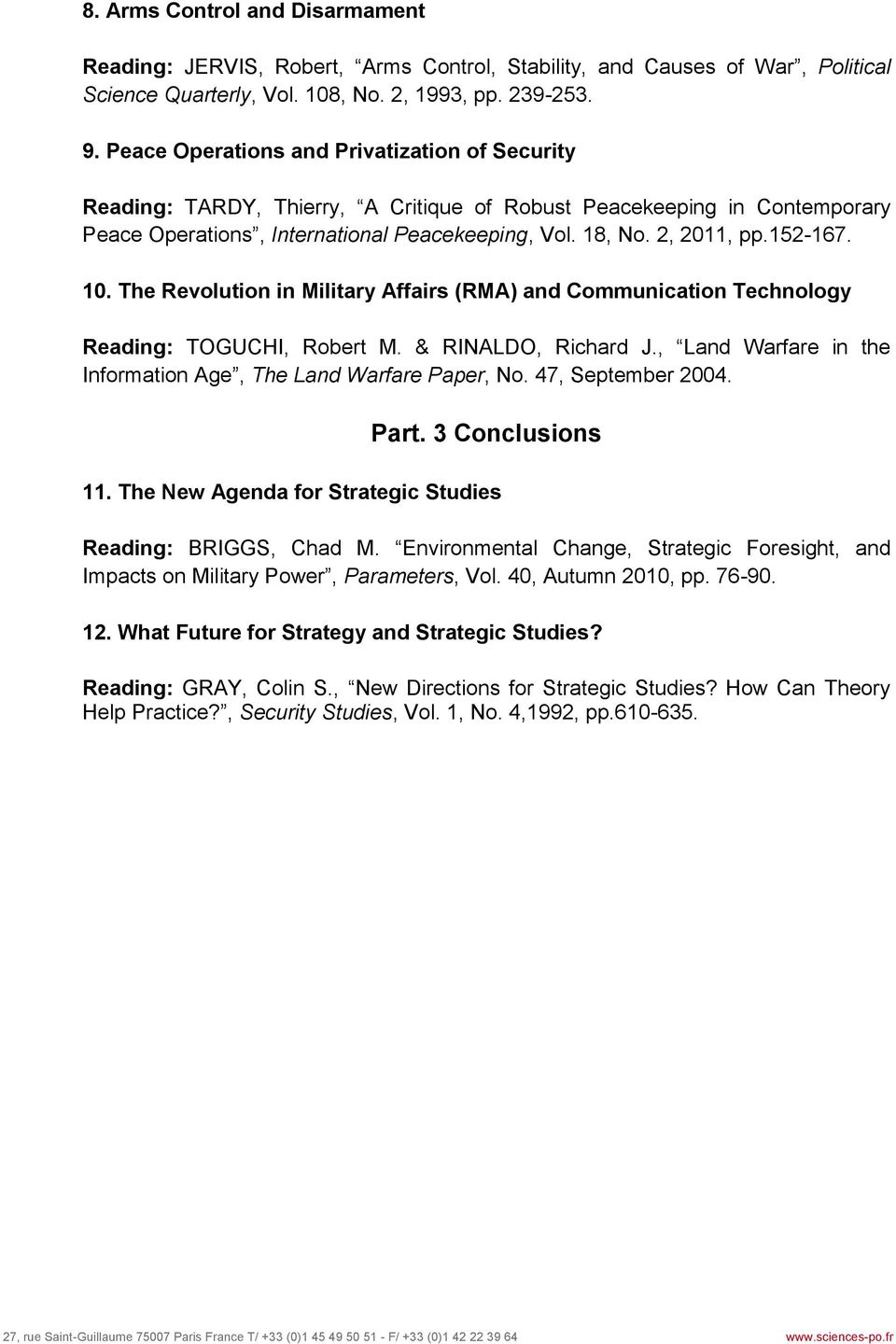 the revolution of military affairs rma in strategy and operations France and the revolution in military affairs  of military operations  military affairs)', comparative strategy, vol18.