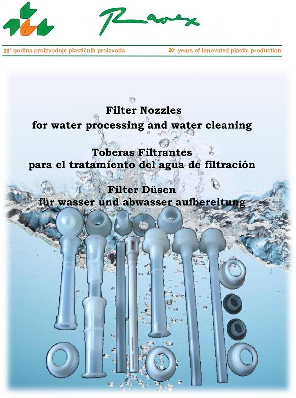 Filter nozzles for water processing and water cleaning - Tratamiento del agua ...