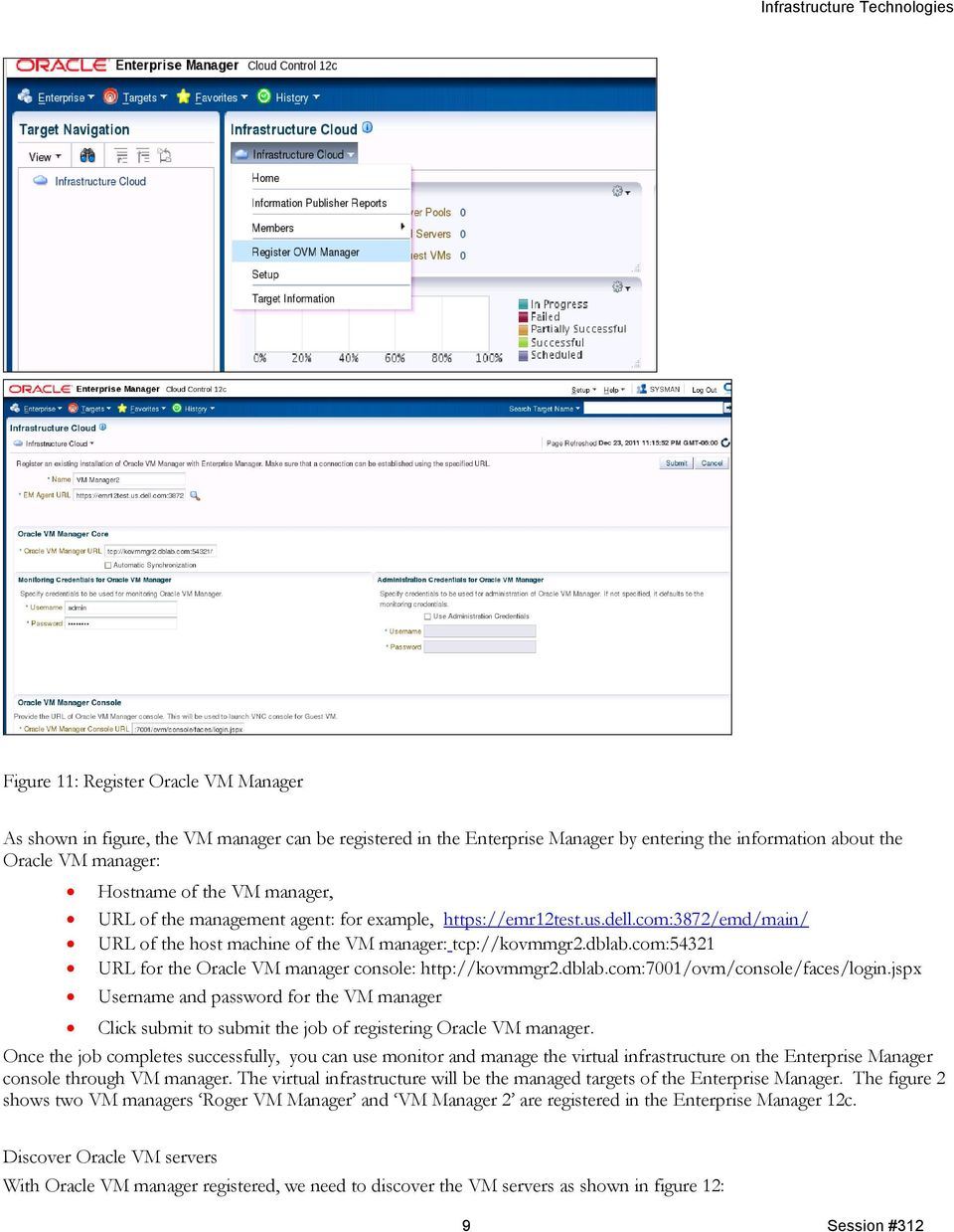 com:54321 URL for the Oracle VM manager console: http://kovmmgr2.dblab.com:7001/ovm/console/faces/login.