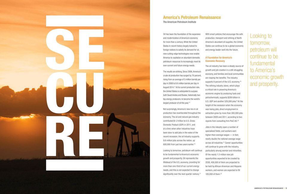 petroleum resources to increasingly meet its own current and future energy needs. The results are striking.