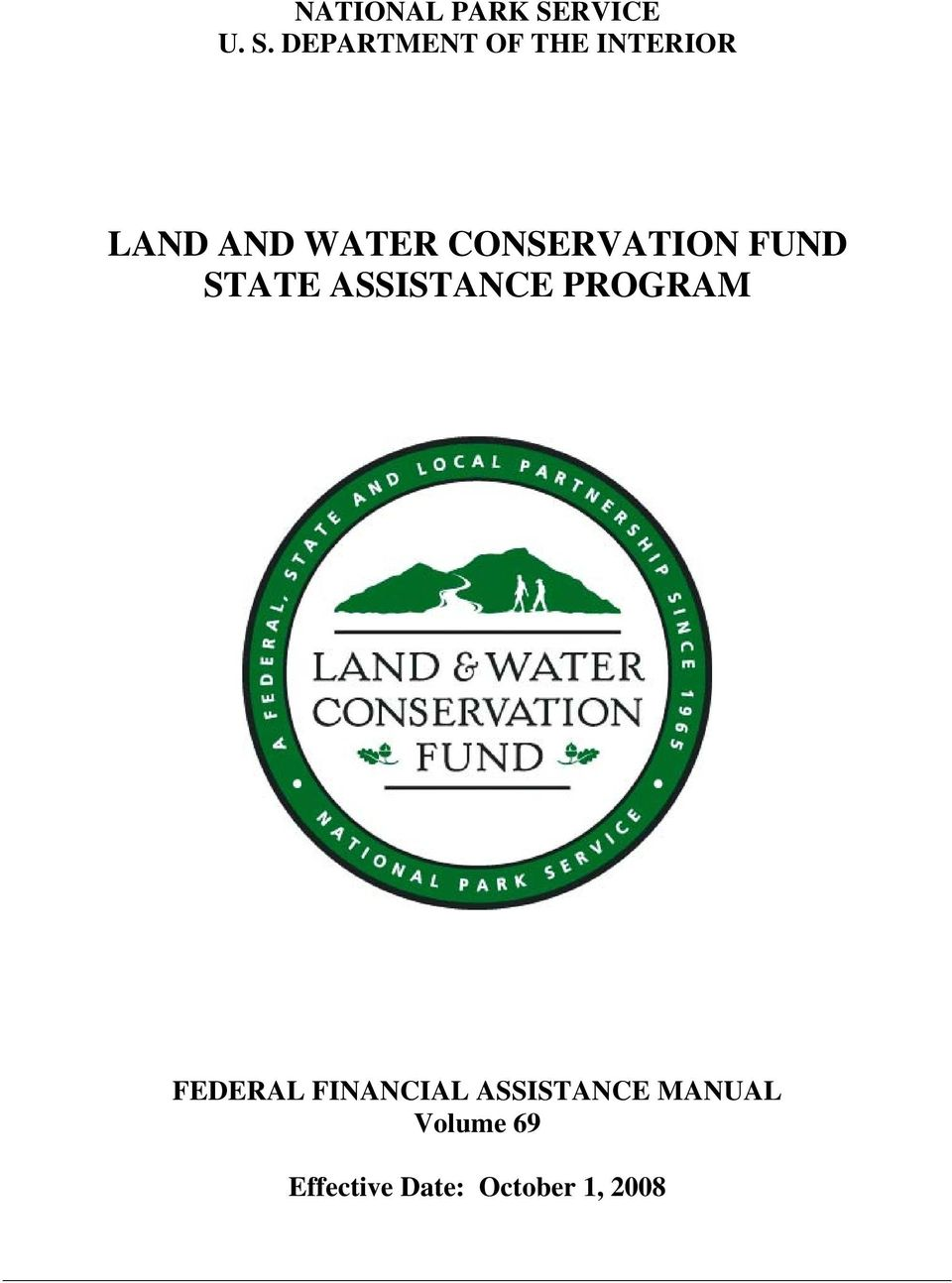 DEPARTMENT OF THE INTERIOR LAND AND WATER