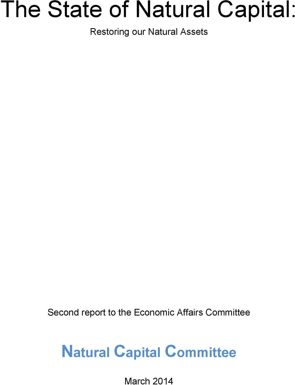 report to the Economic Affairs