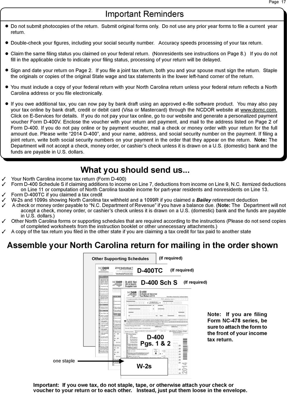 (Nonresidents see instructions on Page 8.) If you do not fill in the applicable circle to indicate your filing status, processing of your return will be delayed. Sign and date your return on Page 2.