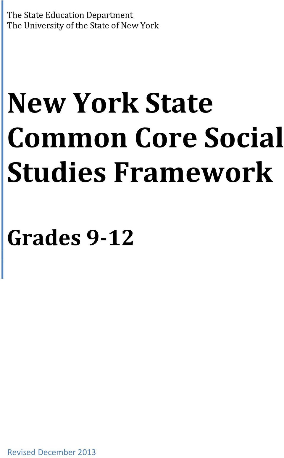 New York State Common Core Social