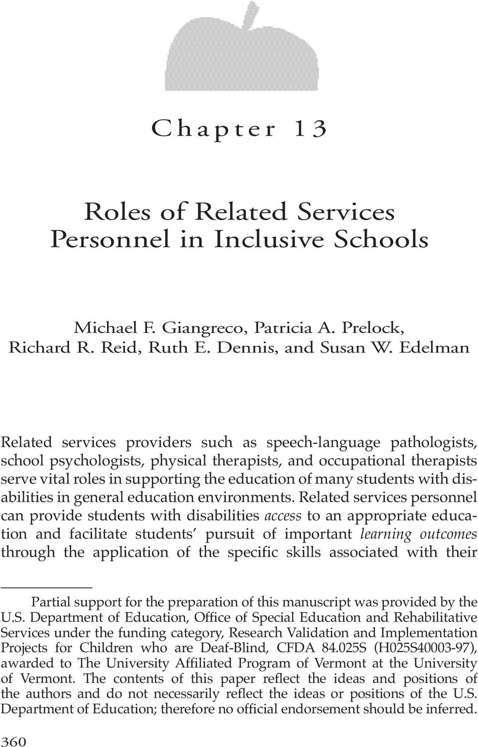 students with disabilities in general education environments.