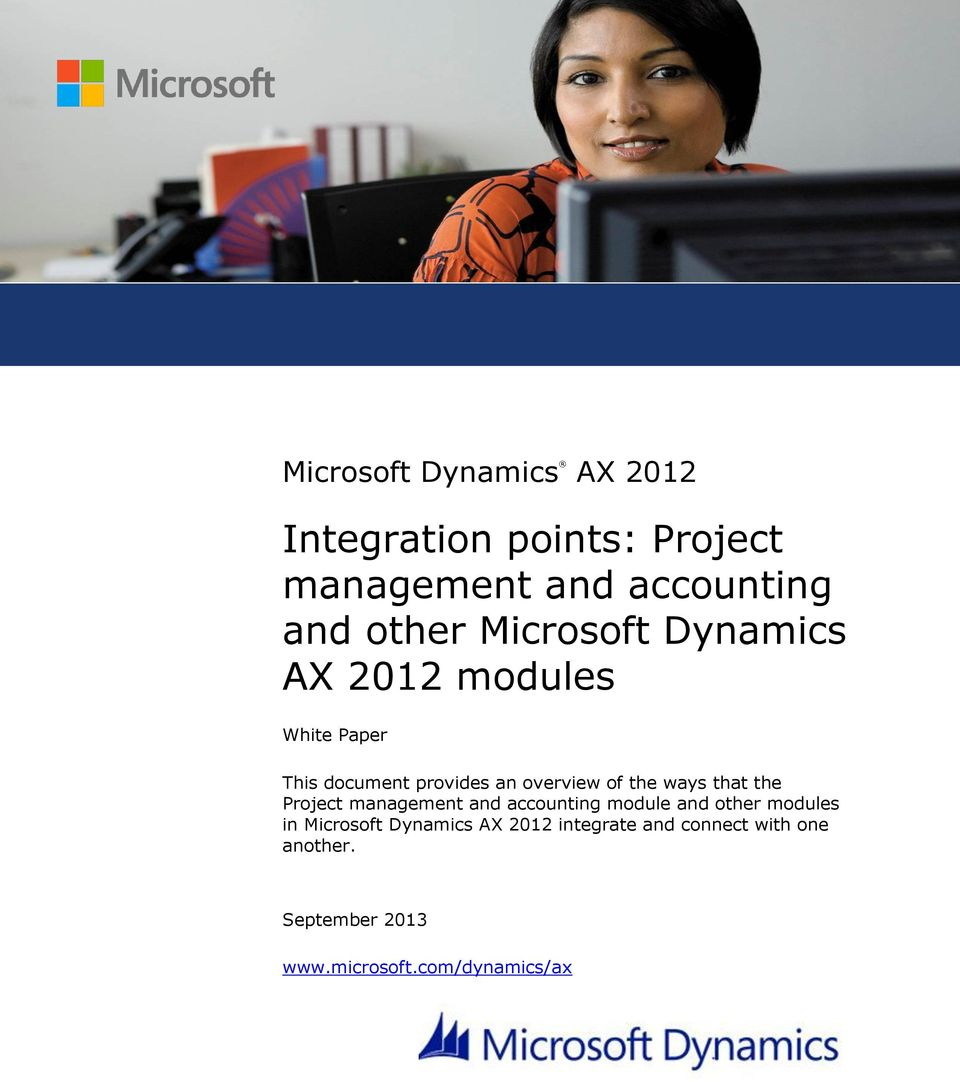 ways that the Project management and accounting module and other modules in Microsoft