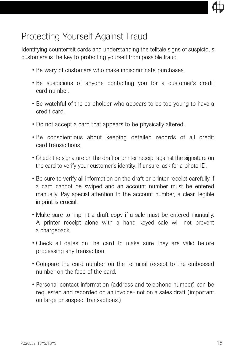 I am pivotal credit card processing handbook pdf be watchful of the cardholder who appears to be too young to have a credit card fandeluxe Gallery