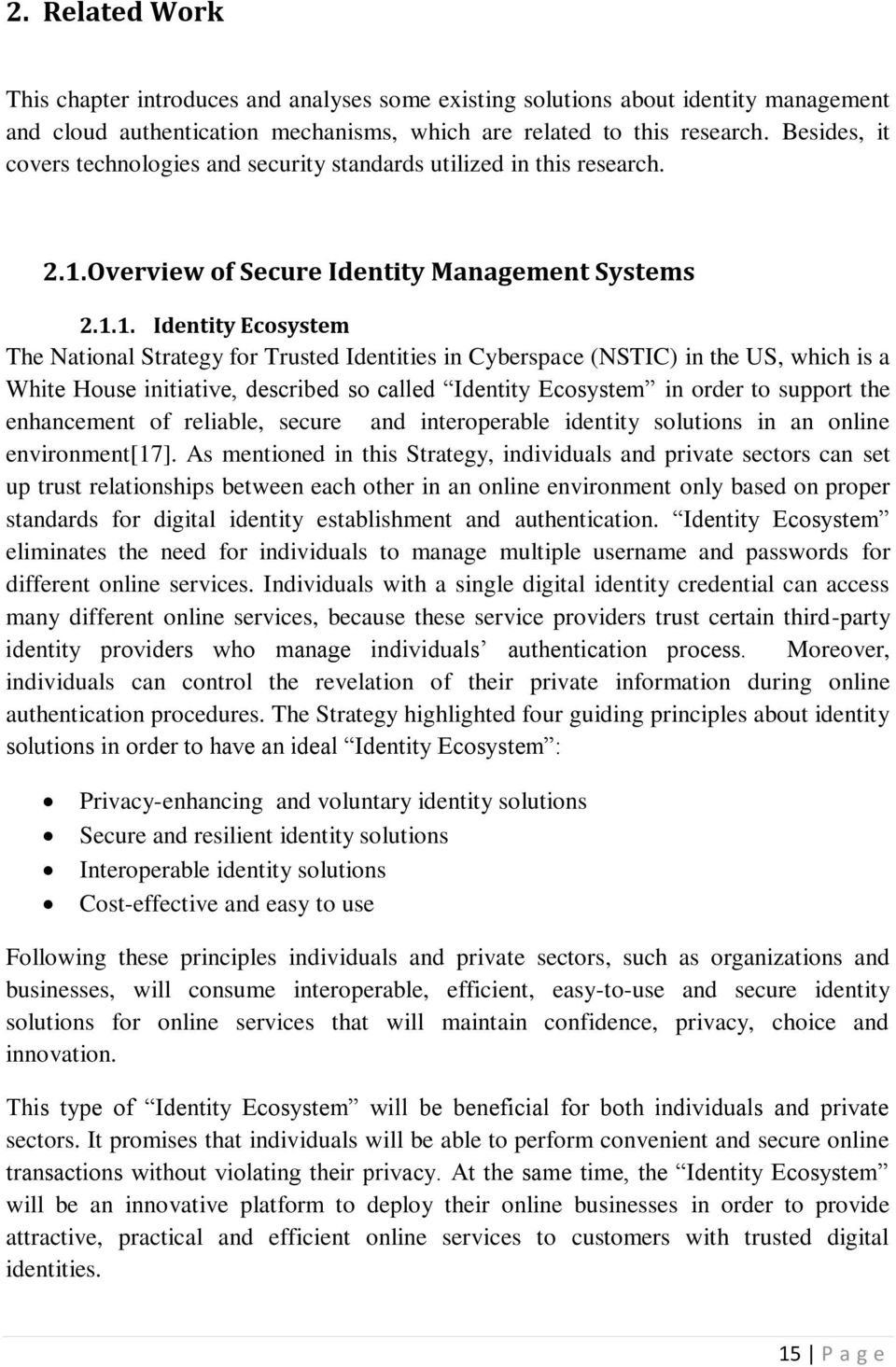 Overview of Secure Identity Management Systems 2.1.
