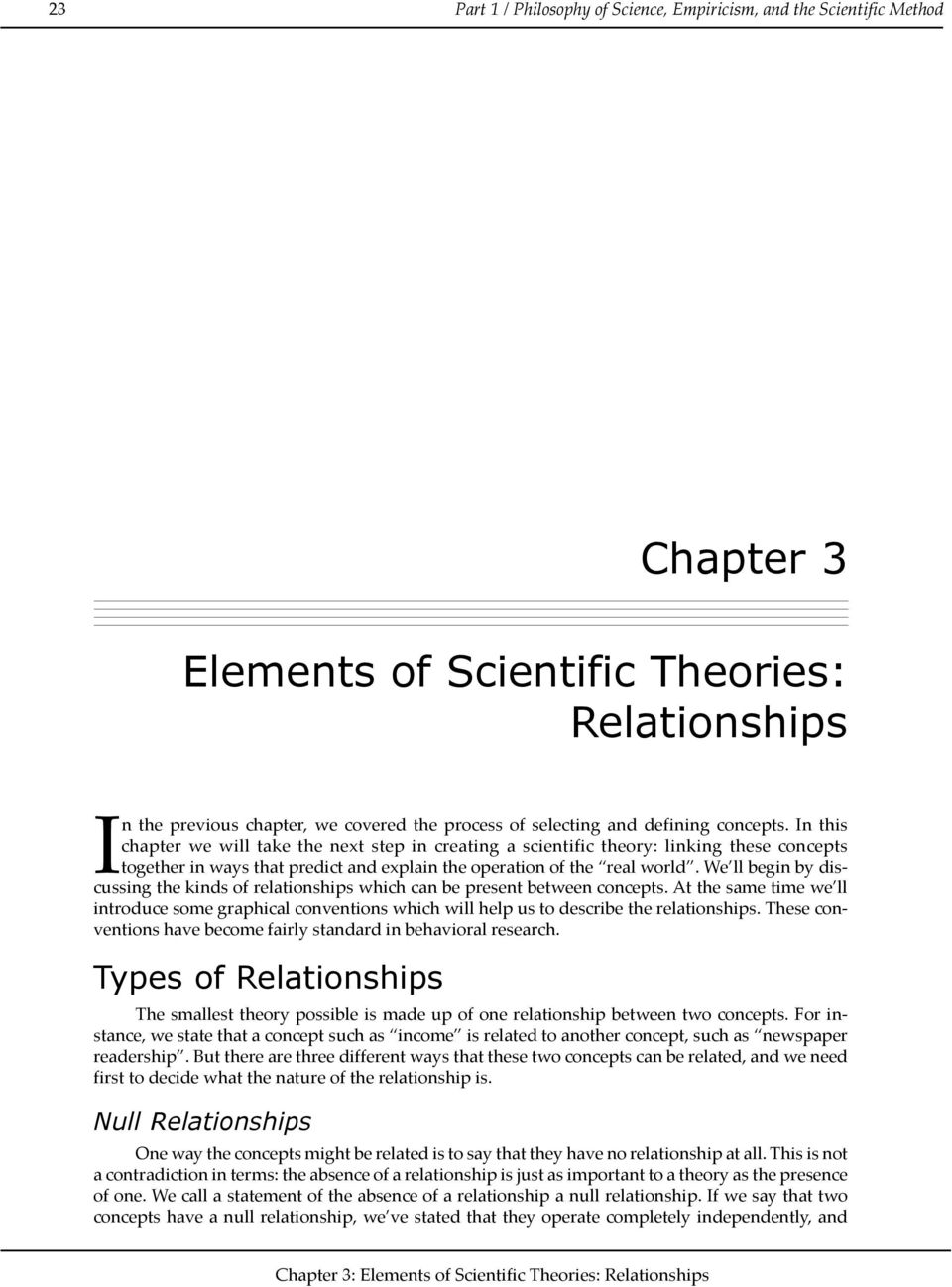 We ll begin by discussing the kinds of relationships which can be present between concepts.