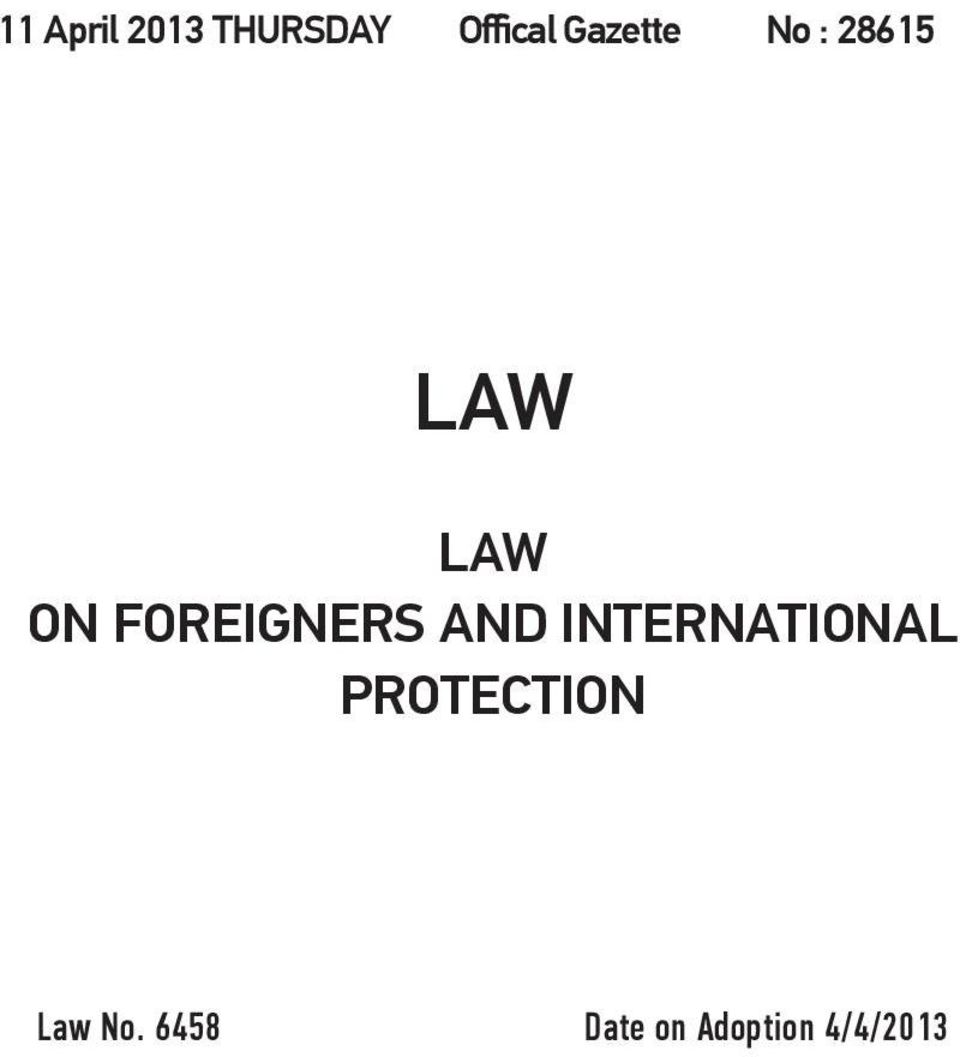 FOREIGNERS AND INTERNATIONAL