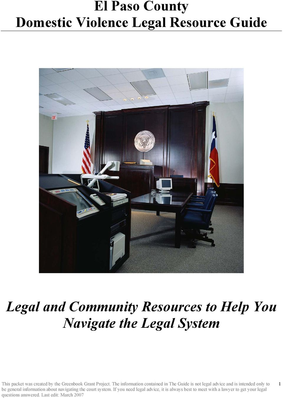 Legal and Community Resources