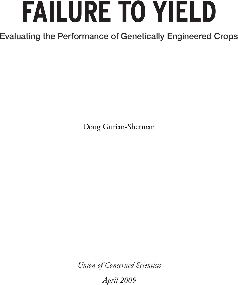 Engineered Crops Doug