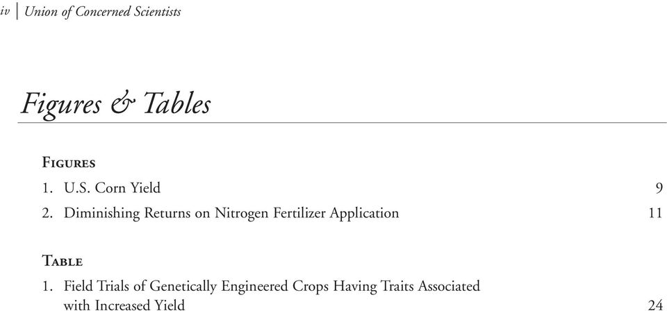 Diminishing Returns on Nitrogen Fertilizer Application 11