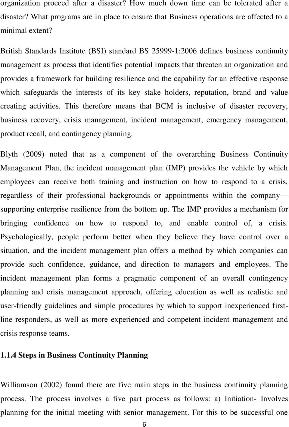 Doc560670 Sample Business Contingency Plan Doc560670 It – Business Contingency Plan Sample