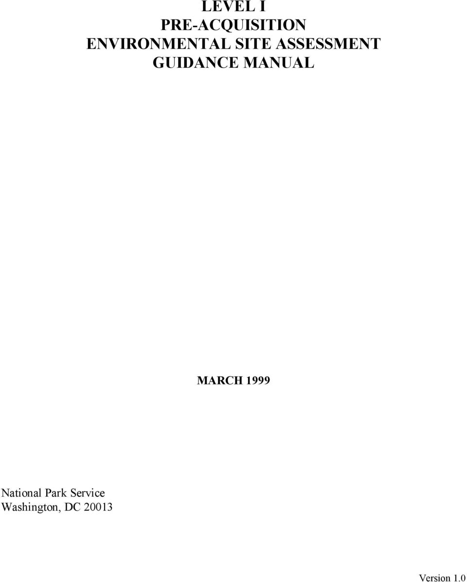 GUIDANCE MANUAL MARCH 1999
