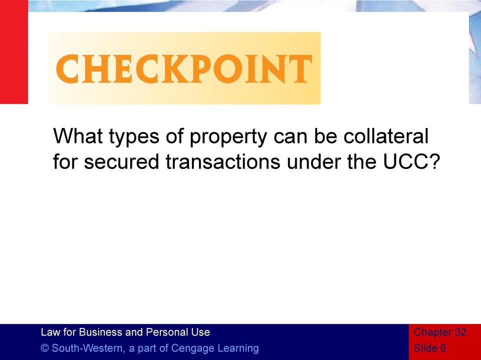transactions under the UCC?