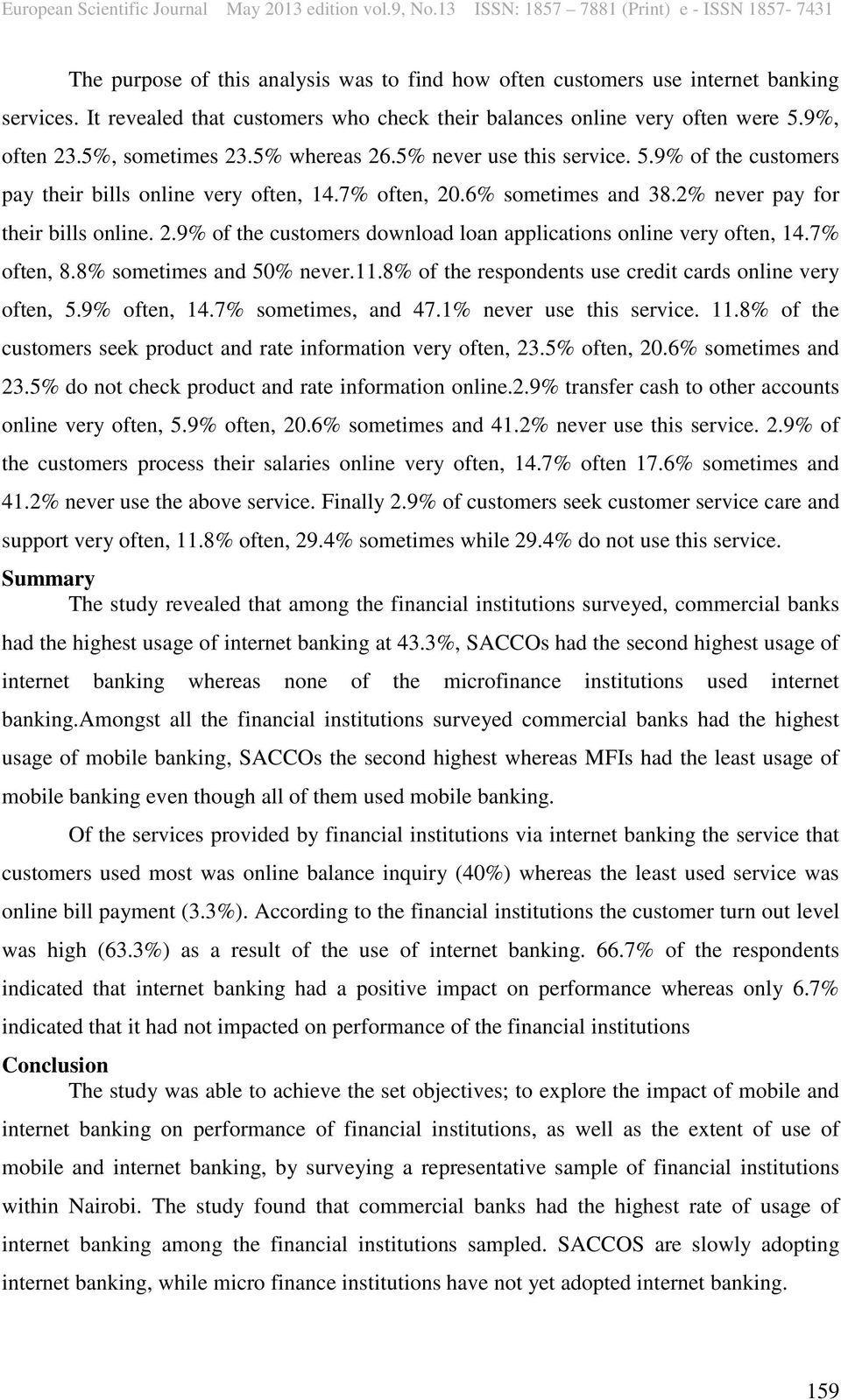 objectives of mobile banking study Case study: bank of america makes the most of mobile banking a mobile post case study september 3 the alignment of bank of america's objectives.