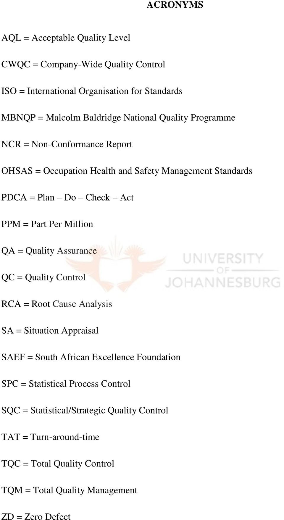Dissertation Report On Total Quality Management