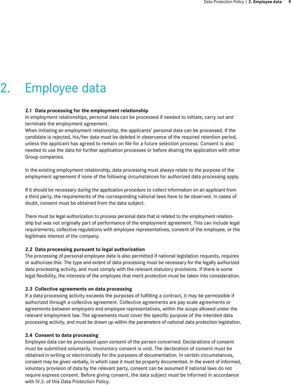 When initiating an employment relationship, the applicants personal data can be processed.
