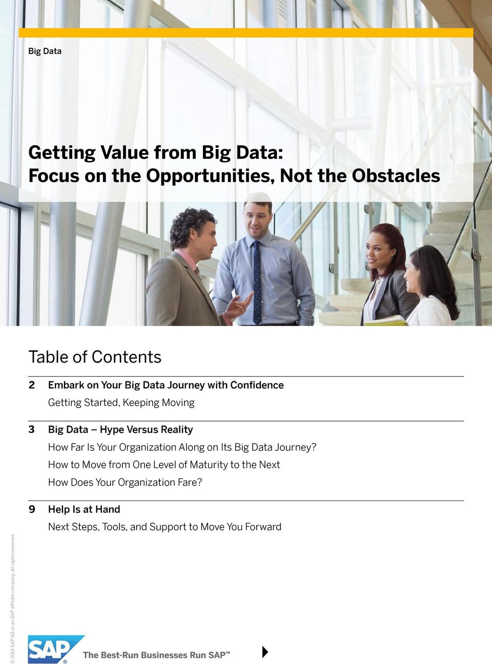 Reality How Far Is Your Organization Along on Its Big Data Journey?