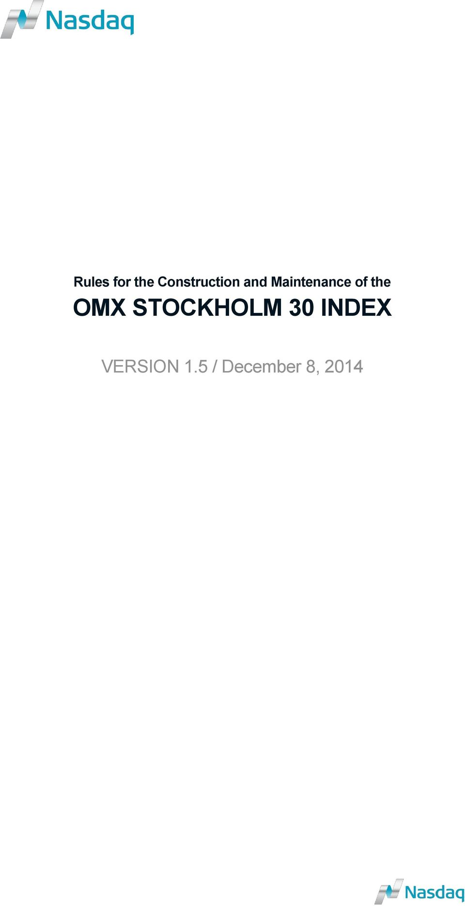Maintenance of the OMX