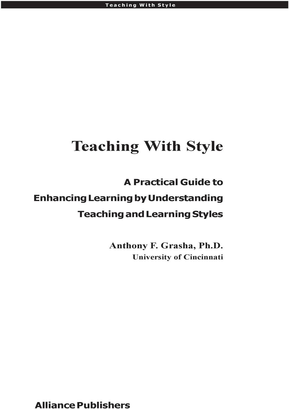 Understanding Teaching and Learning Styles