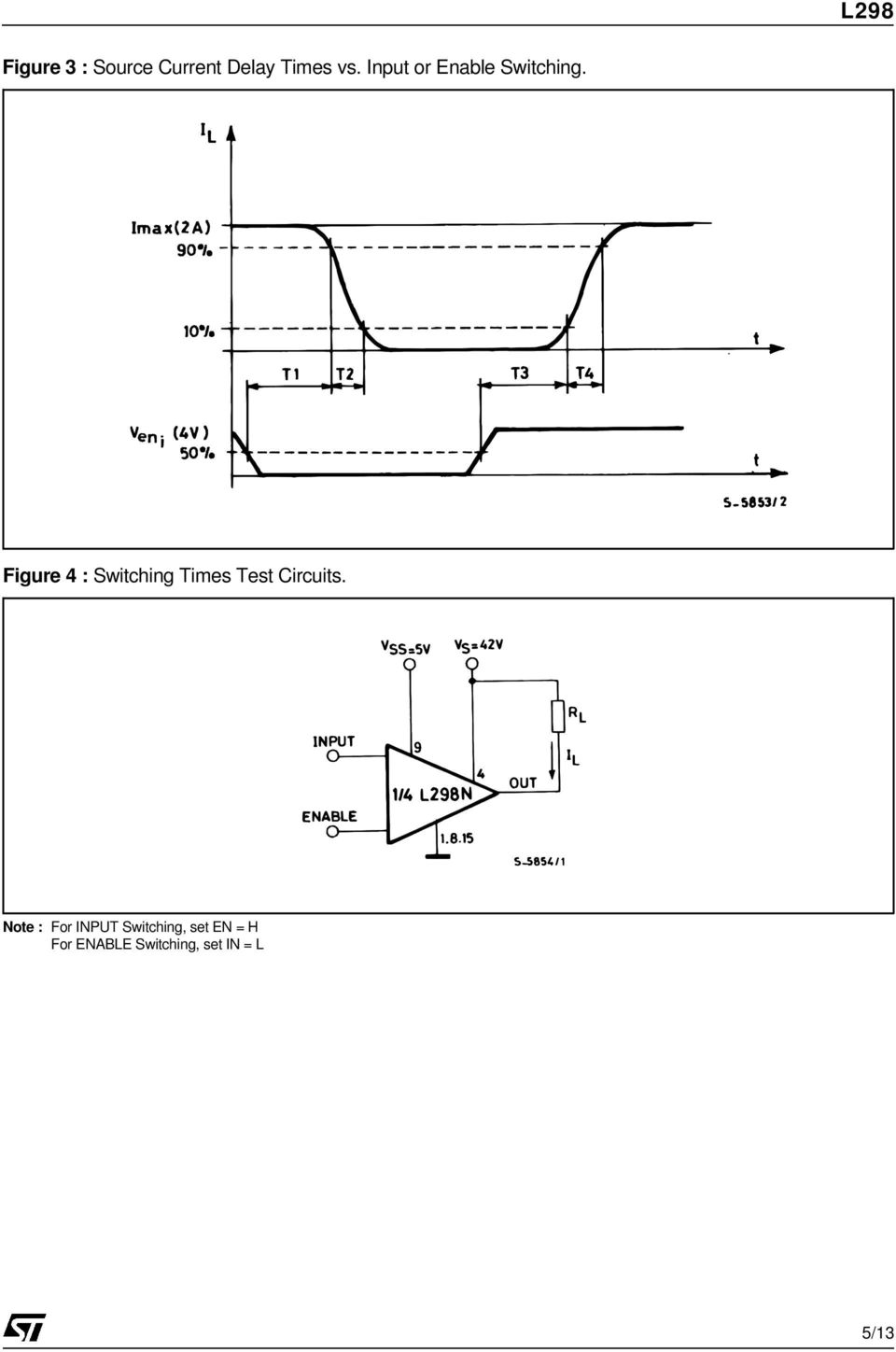 Figure 4 : Switching Times Test Circuits.