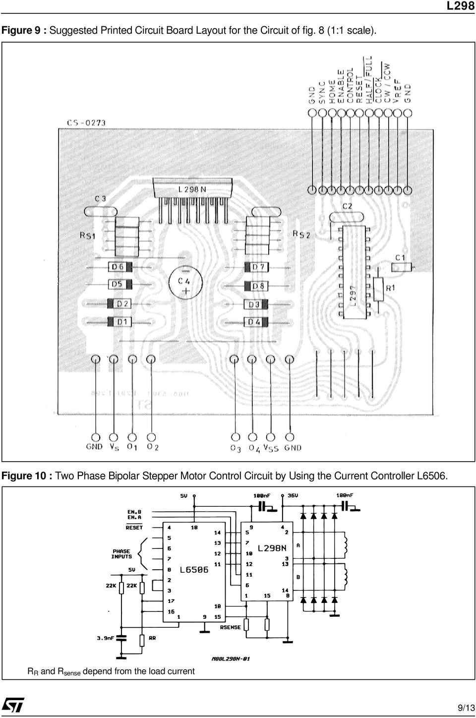 Figure 10 : Two Phase Bipolar Stepper Motor Control Circuit