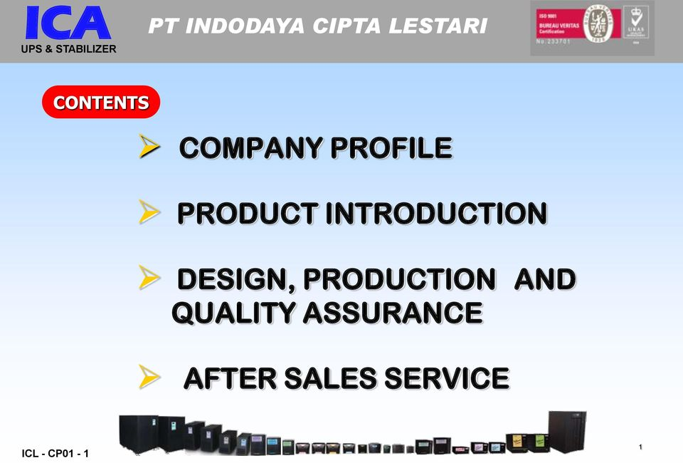 DESIGN, PRODUCTION AND