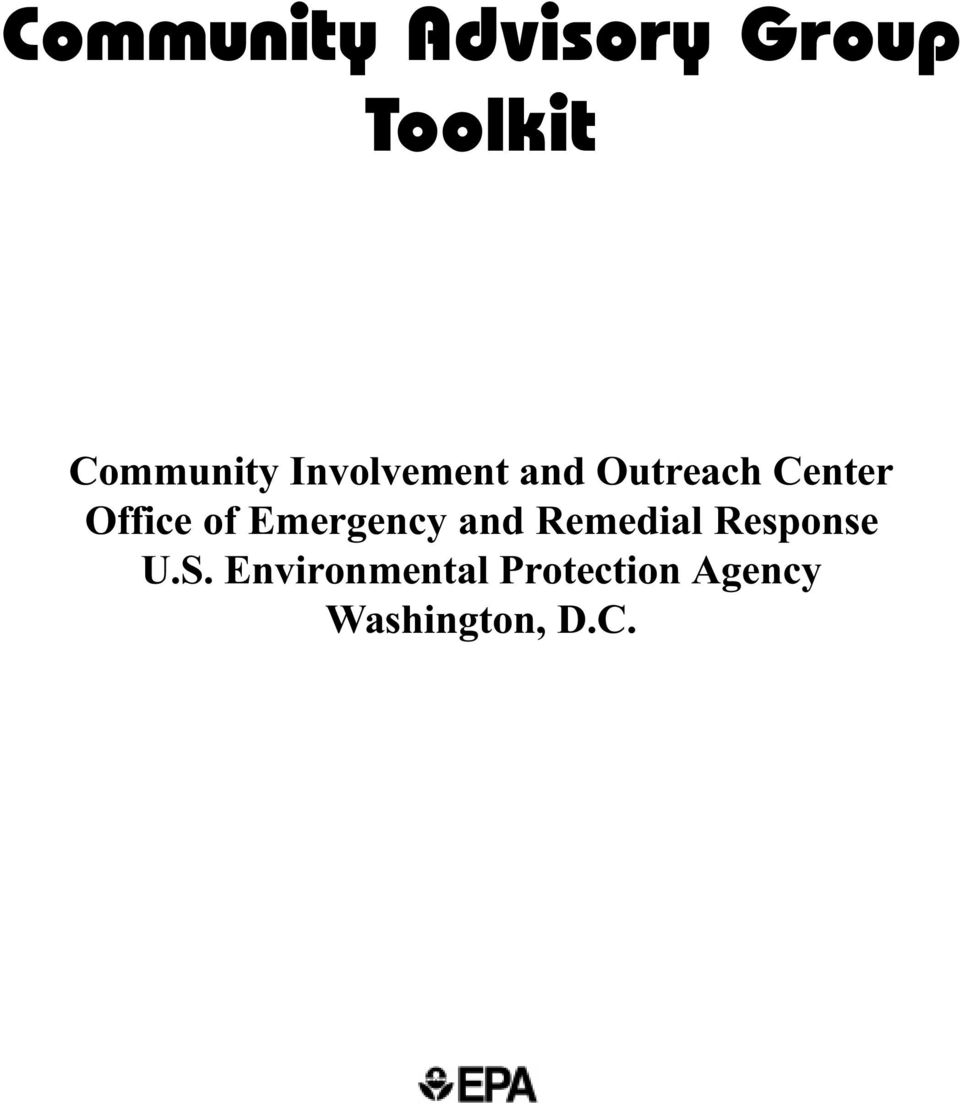 Emergency and Remedial Response U.S.